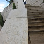 Zeev-Matar-Web-site-Stone-Marble-Bahai-project-Curved-balusrade-Close-coping-detail