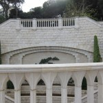 Zeev-Matar-Web-site-Stone-Marble-Bahai-project-Curved-stone-balustade